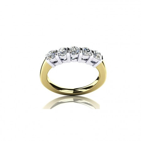 Separation Plating New 925 Silver Plated Gold Ring SONA Diamond Ring