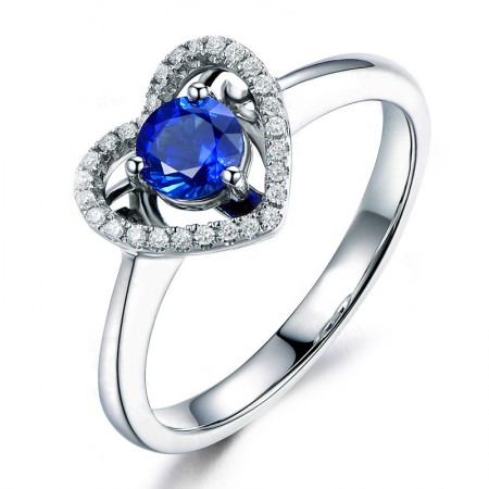 Engagement Ring /& For Gift Blue Sapphire Faceted Cut 925 Sterling Silver Ring Blue Sapphire Ring For Wedding