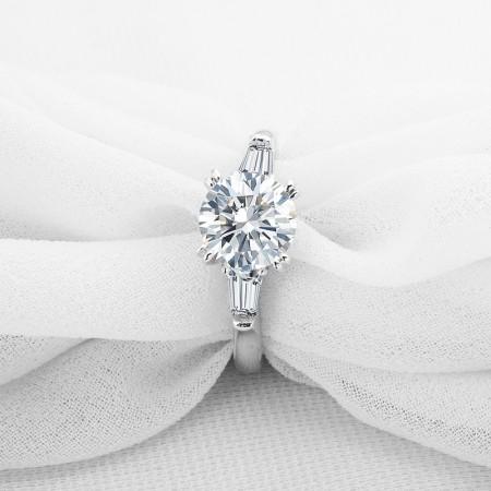 2.0 Carat Women's 925 Sterling Silver Ring