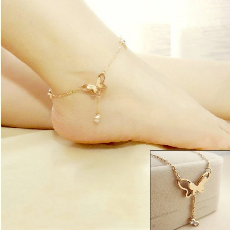 Charming Rose Gold Butterfly Bracelet/Anklet