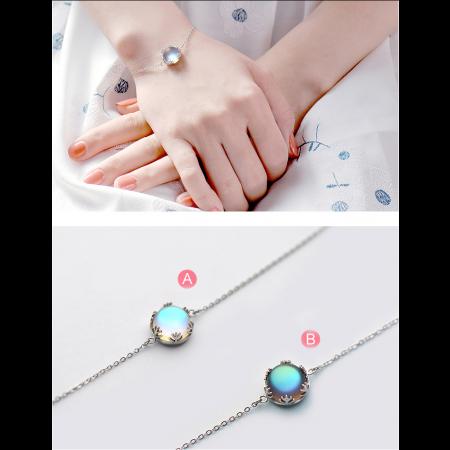Original Aurora Forest Simple Sterling Silver Crystal Bracelet