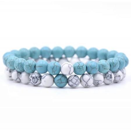 Distance Bracelets - Light Blue