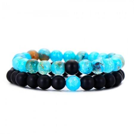 Electric Blue Distance Bracelets