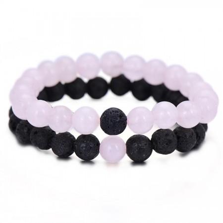 Pink Lava Distance Bracelets
