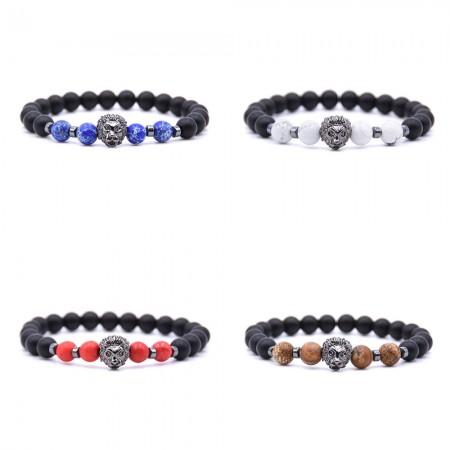 Classic Matte Black Lion Bracelet