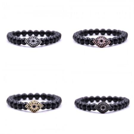 Natural Black Marble Elastic Bracelet