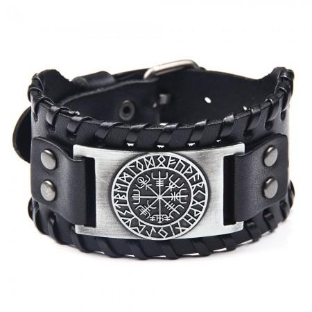 Unique Totem Charm Cowhide Belt Bracelet For Men