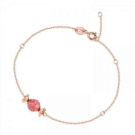 Cute Candy Charm Bracelet For Womens In Sterling Silver
