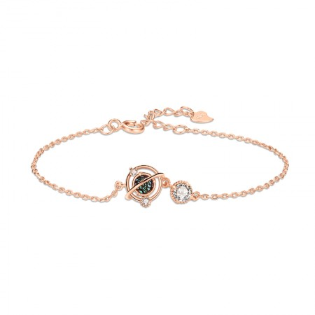 Unique Rose Whole World Charm Bracelet For Womens In Sterling Silver