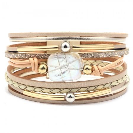 Unique Bohemian Ethnic Leather Bracelet For Women