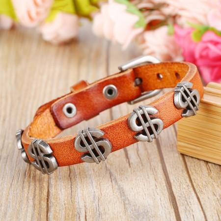 Creative Rivet Woven Bracelet