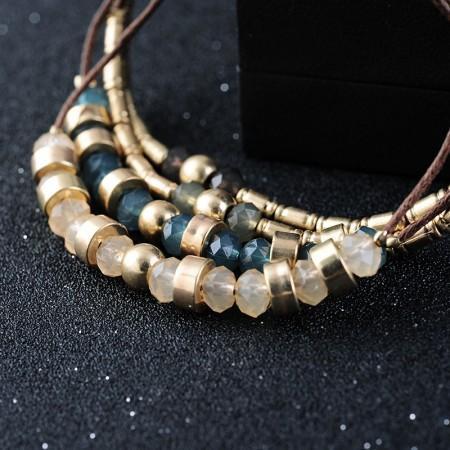 European Hand-Woven Wax Wire Bracelet