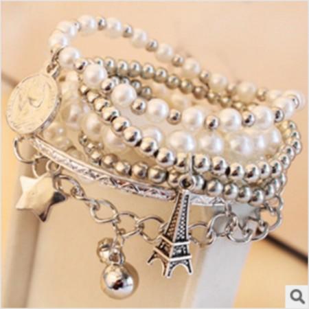 Hot Multilayer Pearl Beaded Bracelet