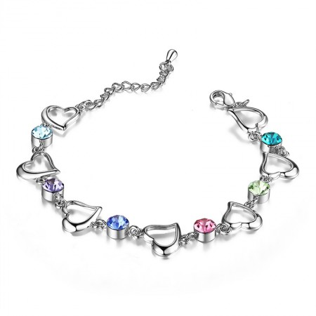 Korean Fashion Sweet Color Cubic Zirconia Women's Bracelet