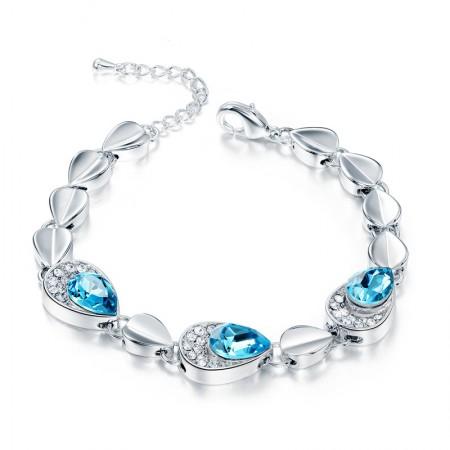 Exquisite Sparkling Simplicity Alloy Mosaic Crystal Fashion Bracelet