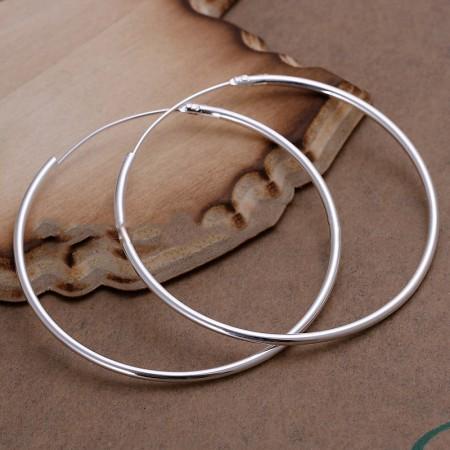 925 Silver Fashion Hoop Earrings
