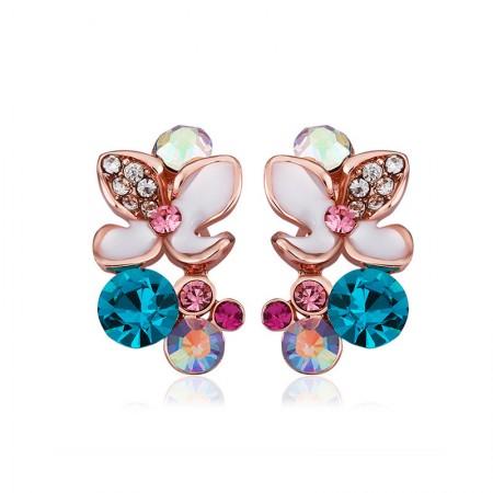 Colorful Flowers Drip Earrings
