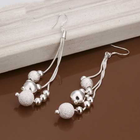 Three-Line Multi-Bead Earrings