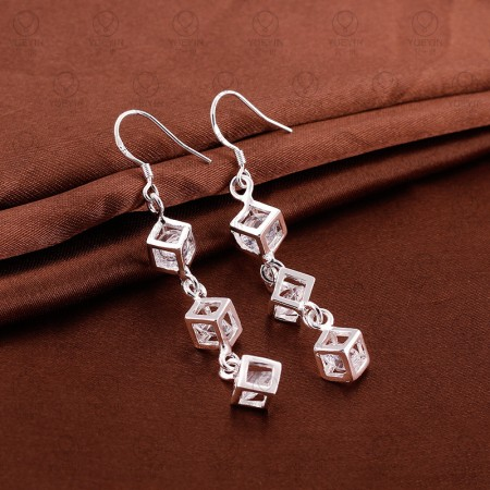 Long Section Of Square Earrings