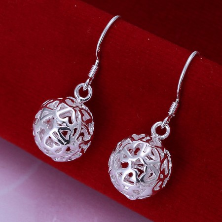 Long Section Of Three-Dimensional Ball Earrings