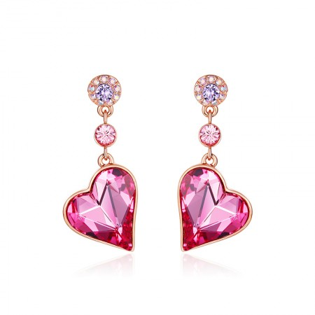 Simple Atmosphere Heart-Shaped Intellectual Elegant Earrings
