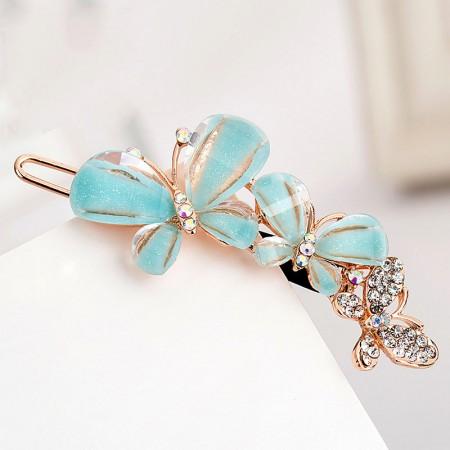 1Pcs Fashion Girls Women Crystal Rhinestone Butterfly Barrette Hair Clip Hairpin