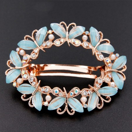 1Pcs Fashion Girls Women Crystal Rhinestone Butterfly Barrette Hair Clip Hairpin Hollow Clamp