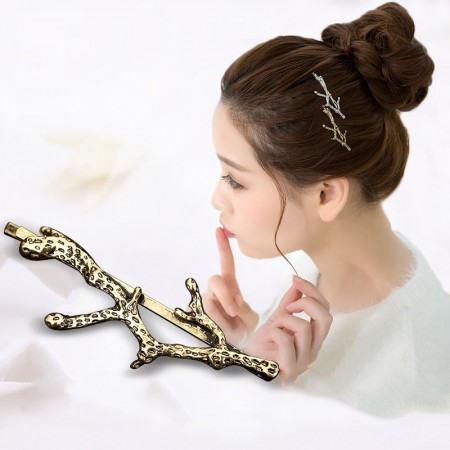 1Pcs Fashion Girls Women Antlers-Shaped Barrette Hair Clip Hairpin Hollow Clamp