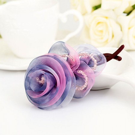 1Pcs Fashion Girls Women Flower-Shaped Barrette Hair Clip Hairpin Head Flower Hollow Clamp Twist Clip