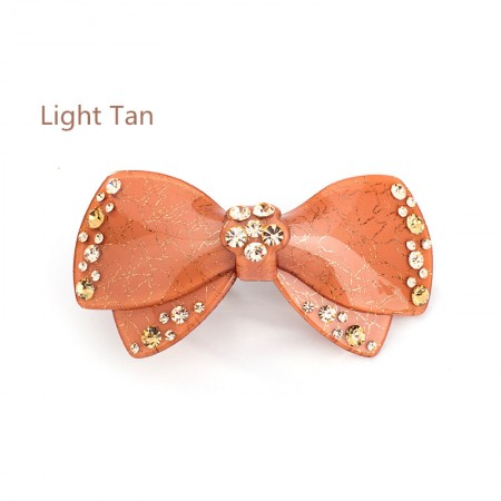 1Pcs Fashion Girls Women Crystal   Bow-Knot Rhinestone Barrette Hair Clip Hairpin