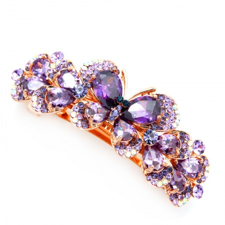 1Pcs Fashion Girls Women Crystal   Butterfly Rhinestone Barrette Hair Clip Hairpin Hollow Clamp