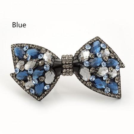 1Pcs Fashion Girls Women Crystal   Bow-Knot Rhinestone Barrette Hair Clip Hairpin Hollow Clamp