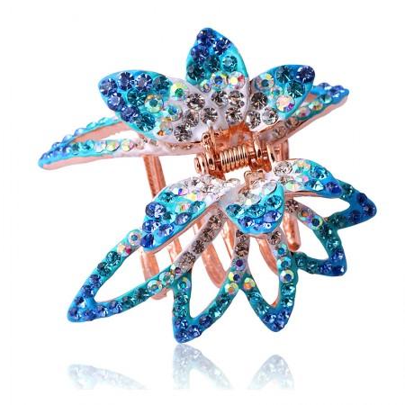 1Pcs Fashion Sweet Girls Women Crystal Rhinestone Butterfly Barrette Claw Hair Clip Hairpin