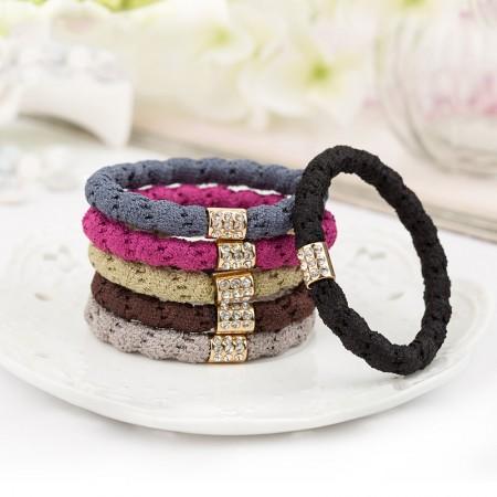 Fashion Sweet Girls Women Rhinestone Headbands Hair Rope