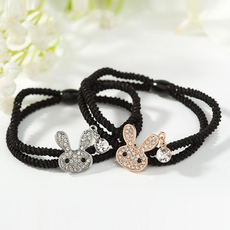 2Pcs Fashion Sweet Girls Women Rhinestone High Elasticity Headbands Hair Rope