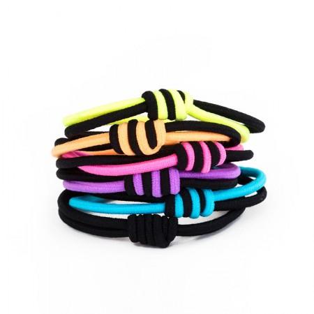 6Pcs Fashion Sweet Girls Women Rhinestone High Elasticity Headbands Hair Rope
