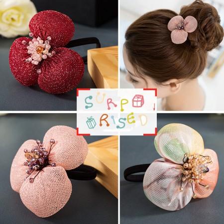 1Pcs Fashion Sweet Girls Women Rhinestone Flower High Elasticity Headbands Hair Rope