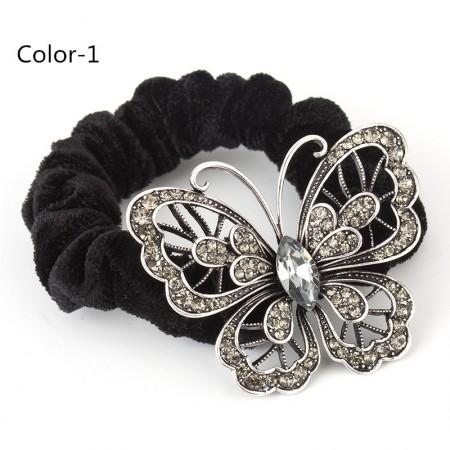 1Pcs Fashion Sweet Girls Women Rhinestone Butterfly High Elasticity Headbands Hair Rope