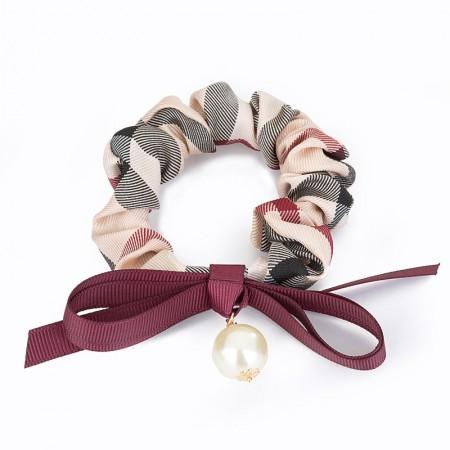 1Pcs Fashion Sweet Girls Women Rhinestone Pearl Bow-Knot High Elasticity Headbands Hair Rope