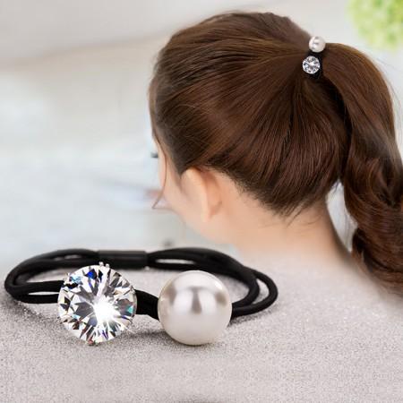 1Pcs Fashion Sweet Girls Women Rhinestone Pearl High Elasticity Headbands Hair Rope