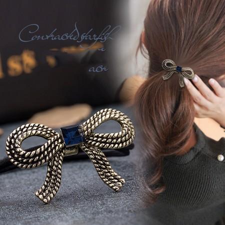 1Pcs Fashion Sweet Retro Vintage Girls Women Rhinestone Crystal High Elasticity Headbands Hair Rope