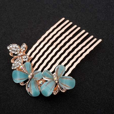 1pcs Lovely Charm Wedding Bridal Party U-Shaped Butterfly Hair Pins Clips Grips Pins Hairpins Bridesmaid Clips Hair Comb