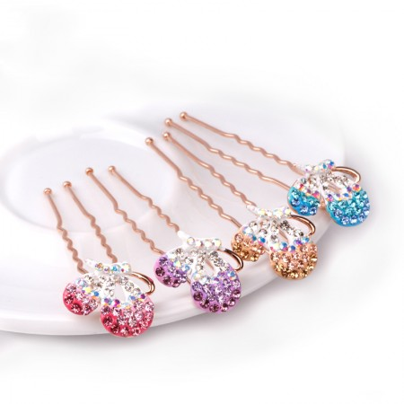 1pcs Lovely Charm Wedding Bridal Party U-Shaped Butterfly Hair Pins Clips Grips Pins Hairpins Bridesmaid Clips