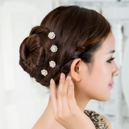 1pcs Lovely Charm Wedding Bridal Party U-Shaped Pearl Hair Pins Clips Grips Pins Hairpins Bridesmaid Clips