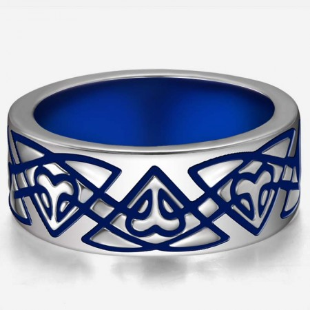 Charming Celtic Pattern 925 Sterling Silver Women And Men's Wide Ring