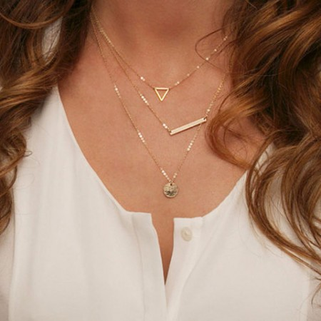 Fashion Simple Geometric Sequins Necklace