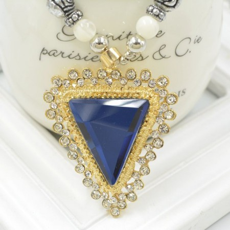 High-Grade Triangle Rhinestone Necklace