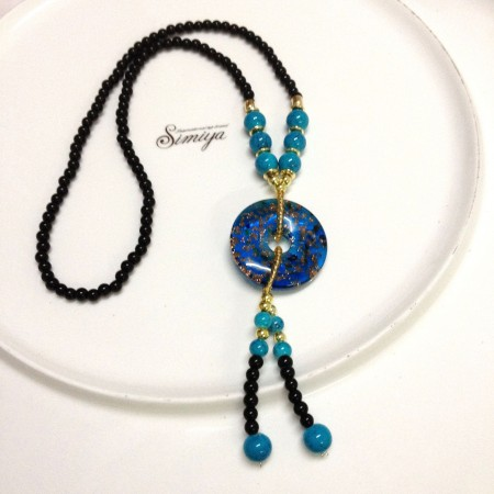 Retro Original Glass Necklace Pendants