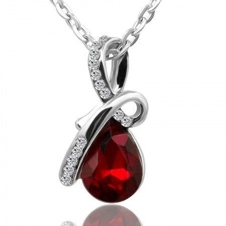 New Popular Gemstone Drop Necklace