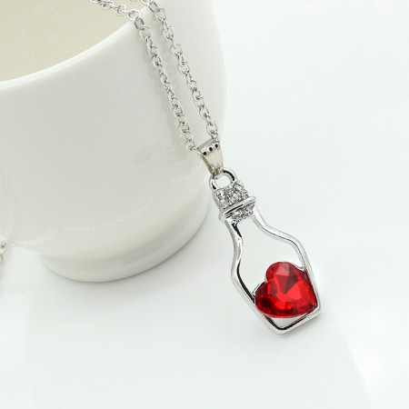 Love Crystal Wishing Bottle Necklace